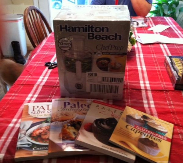 I got a food processor and four new Paleo cookbooks for Christmas! I can't wait to start putting them all to use!